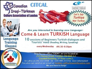 Turkish Language - Iraqi Turkmen Association - Canada